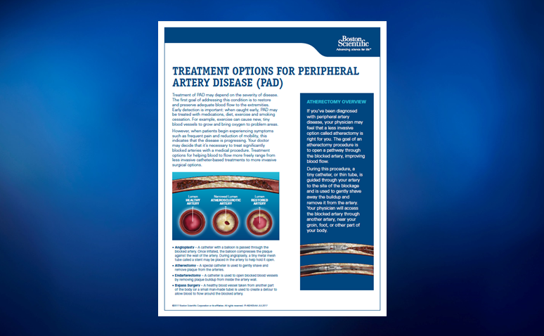 Peripheral Artery Disease Treatment Options