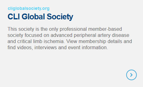 CLI Global Society - This society is the only professional member-based society focused on advanced peripheral artery disease and critical limb ischemia. View membership details and find videos, interviews and event information.